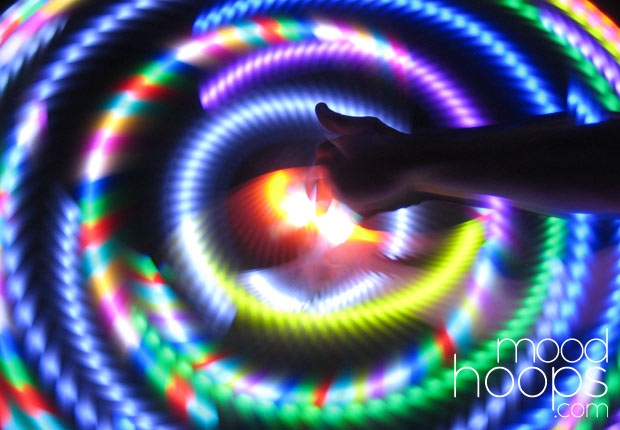 moodhoops custom led hula hoop